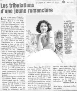 Revue Presse 2005 Marie Matéra - DL